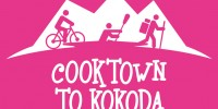 Cooktown to Kokoda Logo +2014 White on Pink Square RGB